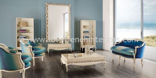 Luxus Living Room Collection in Turquoise and Cream